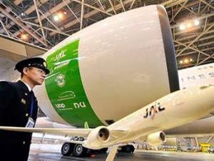 Japan airlines recently tested biofuel-powered plane derived mainly from camelina. Virgin airlines tested a fuel derived from a mixture of Brazilian babassu nuts and coconuts.